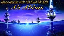 Zouk-e-Bataha Nahi Toh Kuch Bhi Nahi   Na'at   Ali Abbas   Madina Madina