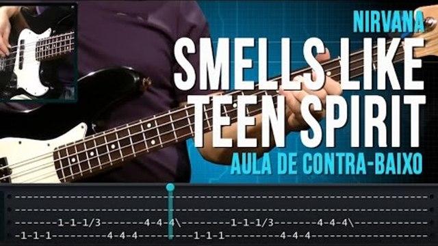 Nirvana - Smells Like Teen Spirit (como tocar - aula de contra-baixo)