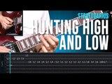 Stratovarius - Hunting High And Low (como tocar - aula de guitarra)