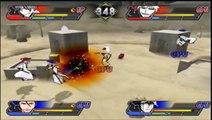 Bleach Blade Battlers 2nd Gin and Hollow Ichigo VS Aizen and Ulquiorra