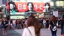 Shibuya crossing - the busiest pedestrian crossing in the world. Tokyo, Japan