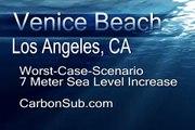 Venice Beach, California -Underwater Global Warming Catastrophe Sea Level Rise Increase