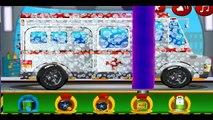 Ambulance at the car wash  Car wash for kids  Cartoon about CAR WASH  CAR WASH cartoon