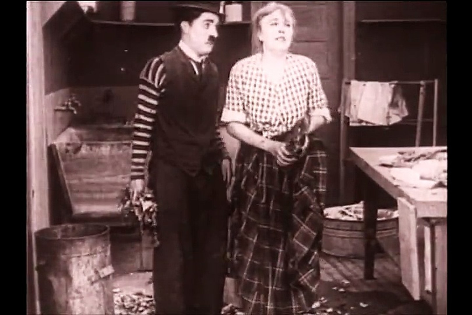 Charlie Chaplin: Triple Trouble (Early Silent Film) 1918