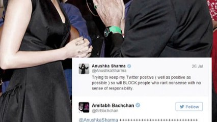 Amitabh Bachchan is scared of getting BLOCKED by Anushka Sharma