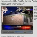 Homeowner Could be Fined for his Solar Panels