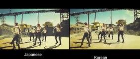 MV Comparison Girls' Generation - Catch me if you can SNSD MV Korean Japanese