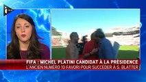 Michel Platini est candidat à la présidence de la Fifa