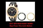 """SPECIAL DISCOUNT Versace Men's 23C80D008 S009 """"V-Race"""" 18k Rose-Gold Plated Stainless Steel and Black Leather Watch"""