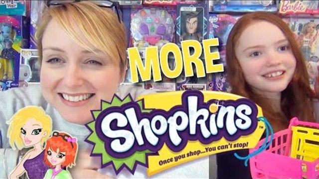 Shopkins Opening Season 1 5 Pack Season 2 12 Pack and Shopping Cart