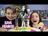 Monster High Save Frankie Clawdeen, Jackson and Draculaura Dolls Review