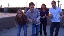 AIESEC Dance Superstar near Palace Bridge in Saint Petersburg