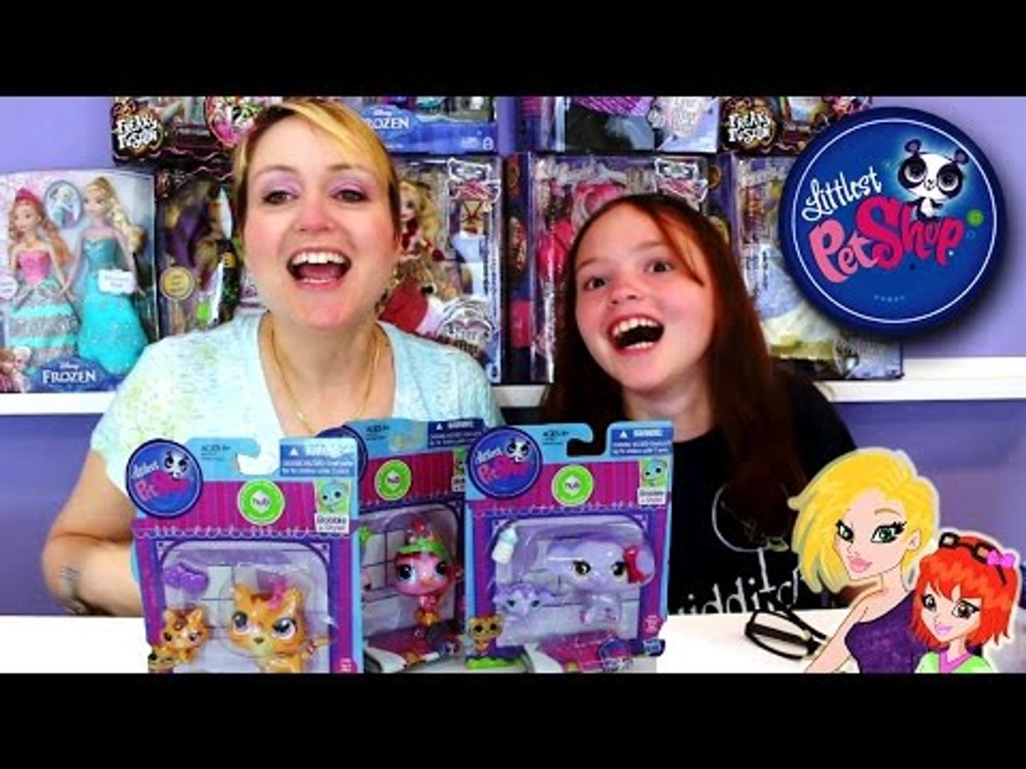 Littlest Pet Shop Mommy and Baby Sets LPS Opening