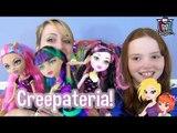 Monster High Creepateria Cleo, Draculaura and Howleen Doll Reviews