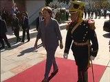 25 de ABR. Cristina Fernández recibió a Dilma Rousseff en Casa Rosada.