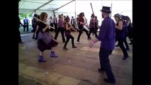 Pretty Grim dancing the Dragon Dance at Folk East 2014