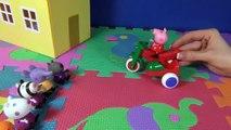 Peppa Pig en français. Peppa Pig a invite ses amis. Les amis de Peppa regarde ses cadeaux