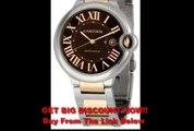 BEST BUY Cartier Men's W6920032 Ballon Bleu Chocolate Brown Dial Watch