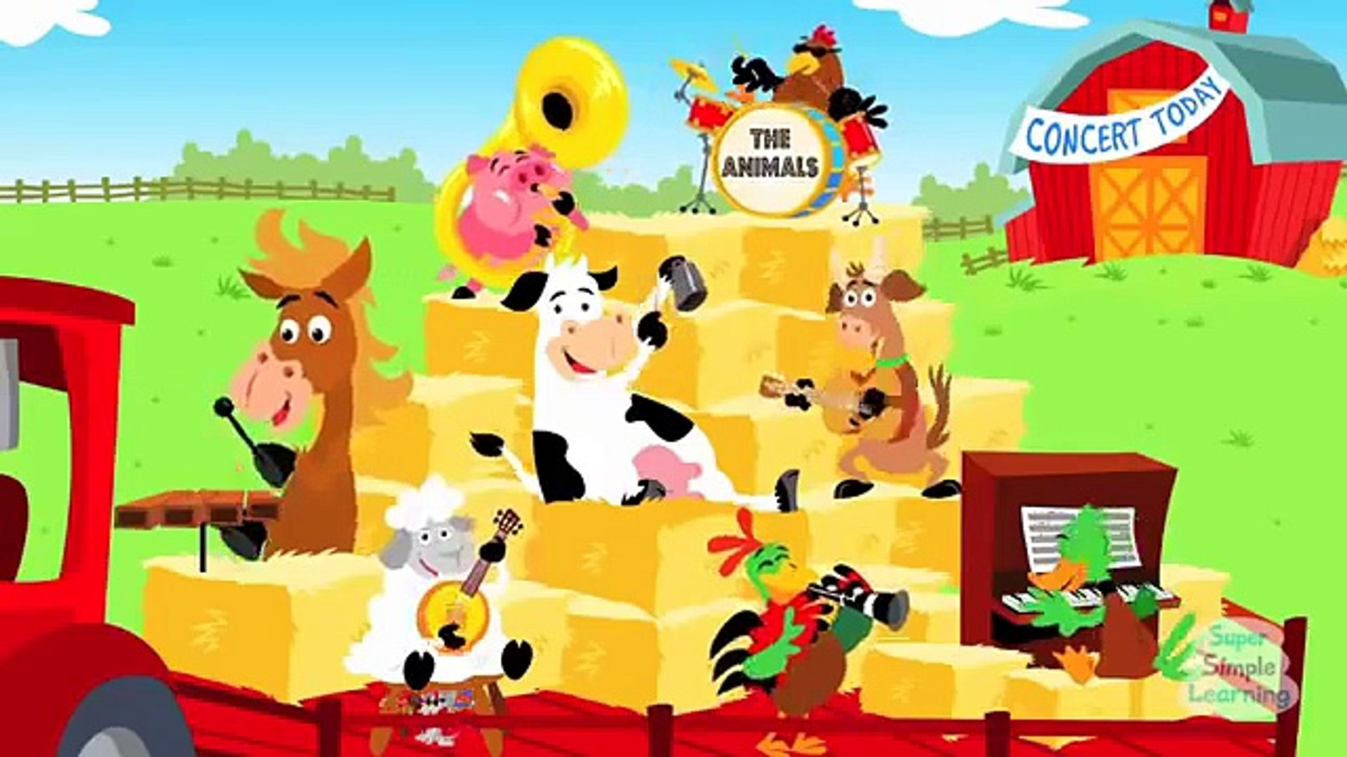 أغاني أطفال باللغة الانجليزية 5 حيوانات المزرعة Video Dailymotion