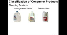 Consumer Product Classifications   Shopping Products ~3 minutes)