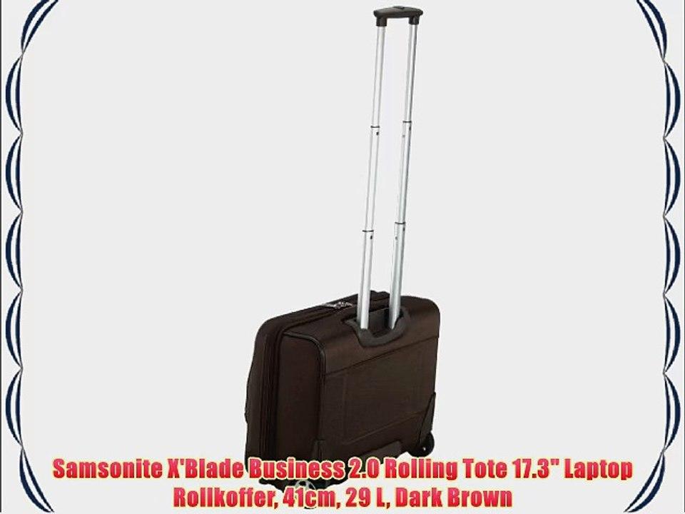 Samsonite X'Blade Business 2 0 Rolling Tote 17 3 Laptop Rollkoffer 41cm 29  L Dark Brown