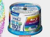 Verbatim Mitsubishi 25GB 4x Speed BD-R Blu-ray LTH TYPE Recordable Disk 50 Spindle Pack - Ink-jet