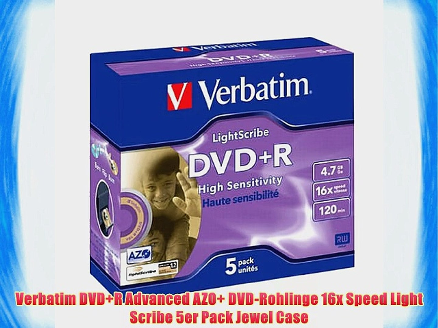 graphic about Printable Dvd Rohlinge identify Verbatim DVD R Highly developed AZO DVD-Rohlinge 16x Rate Gentle Scribe 5er Pack Jewel Circumstance