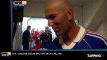 """FIFA : Zinédine Zidane soutient Michel Platini, """"c'est la personne idéale"""""""