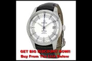 DISCOUNT Omega De Ville Hour Vision Silver Dial Black Leather Mens Watch 43133412102001