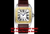DISCOUNT Cartier Men's W20072X7 Santos 100 XL Automatic Yellow Gold Stainless Steel and Leather Watch
