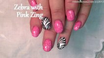 2 Nail Art Tutorials   DIY Easy Nails Design   Zebra & Pink Filigree
