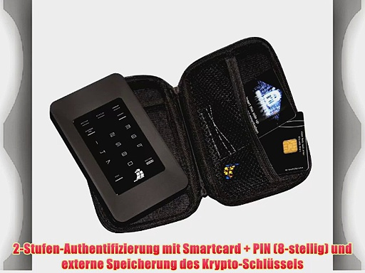 Digittrade HS128 750 GB High Security externe Festplatte mit 128-Bit AES (64 cm (25 Zoll) 5400rpm