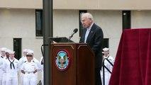 Jim Lovell at the Captain James A. Lovell Hospital Dedication