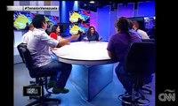 Tras Camaras debate CNN estudiantes oficialistas Vs opositores