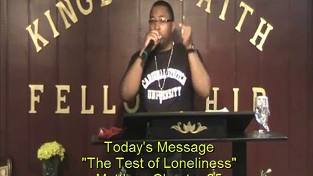 """Pastor Randolph Preaching """"The Test of Loneliness"""""""