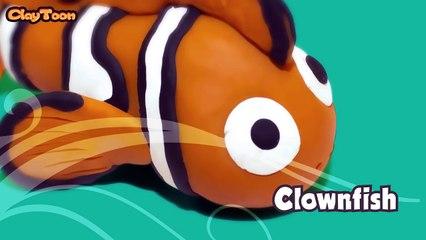 ClownFish - Polymer clay tutorial  سمكة البهلوان - تشكيل صلصال للأطفال