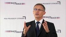 """Carlos Tavares, Président du Directoire de PSA Peugeot Citroën, présente le plan """"Back in the Race"""""""