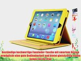 JAMMYLIZARD | Ledertasche Smart Case f?r iPad Air 2013 (5. Generation) GELB