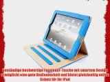 JAMMYLIZARD | Ledertasche Smart Case f?r iPad Air 2013 (5. Generation) BLAU