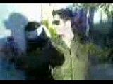 Israeli soldier dances around blindfolded Palestinian girl
