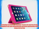 JAMMYLIZARD | Ledertasche Smart Case f?r iPad Air 2013 (5. Generation) ROSA