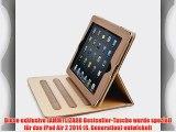 JAMMYLIZARD | Ledertasche Smart Case f?r iPad Air 2 2014 (6. Generation) BRAUN