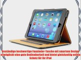 JAMMYLIZARD | Ledertasche Smart Case f?r iPad Air 2013 (5. Generation) GRAU