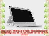 JAMMYLIZARD   360 Grad rotierende Ledertasche H?lle f?r Samsung Galaxy Tab 4 10.1 WEI?