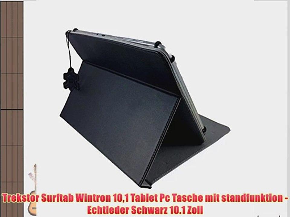 10 Surftab Zoll Tasche Mit 1 Wintron Echtleder Schwarz Pc Trekstor 101 Tablet Standfunktion MpSUzqV