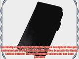 JAMMYLIZARD | Luxuri?s Wallet Ledertasche H?lle f?r iPhone 4 und 4S SCHWARZ