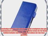 JAMMYLIZARD | Luxuri?s Wallet Ledertasche H?lle f?r iPhone 4 und 4S BLAU