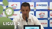 Conférence de presse Clermont Foot - FC Sochaux-Montbéliard (0-0) : Corinne DIACRE (CF63) - Olivier ECHOUAFNI (FCSM) - 2015/2016