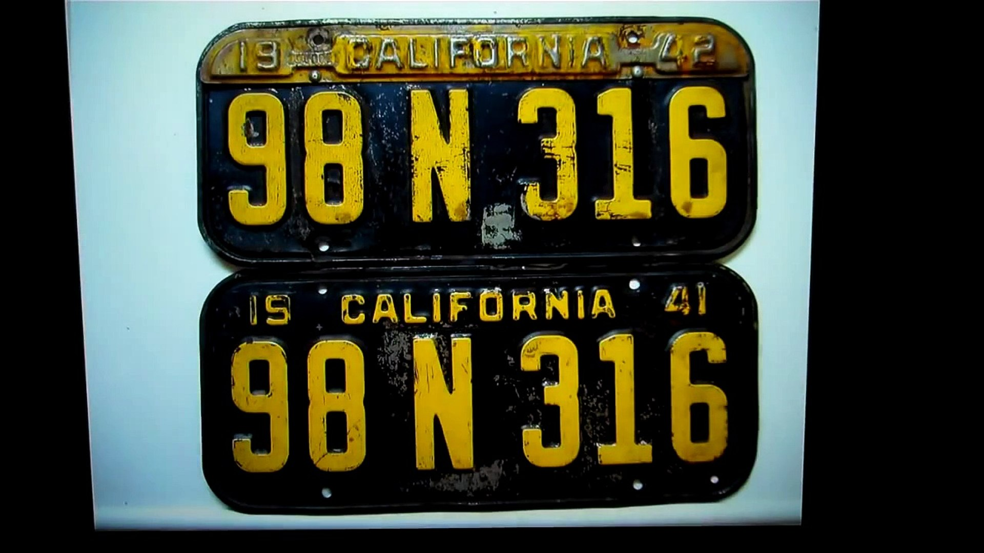 1963 California License Plate Restoration Chevy Mopar Ford Car Show Finish Your Plates