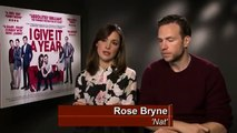 I Give It A Year - Rose Bryne and Rafe Spall interview